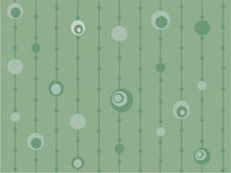 Funky green retro circles Royalty Free Stock Photography