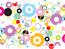 Funky grunge circles Royalty Free Stock Photo