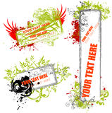 Funky grunge frames -  illustration Royalty Free Stock Photography