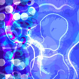 Funky grungy blue abstract background Stock Photo