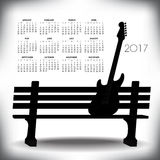 Funky guitar calendar Stock Photo
