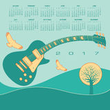 Funky guitar calendar Stock Images