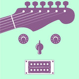 Funky guitar face music background Stock Photos