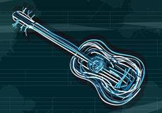 Funky guitar Stock Images