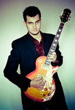 Funky guitarist Royalty Free Stock Images