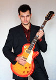 Funky guitarist Royalty Free Stock Photography