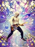 Funky guitarist Stock Image