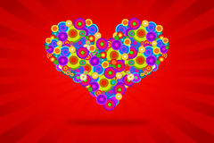 Funky Heart Royalty Free Stock Images