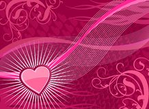 Funky heart background Stock Photos