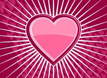 Funky heart background Stock Image