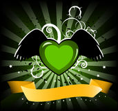 Funky heart banner Royalty Free Stock Images