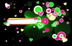 Funky hearts Royalty Free Stock Photo