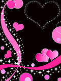 Funky hearts. Funky valentine design with hearts and stars Royalty Free Stock Photo