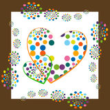 Funky hearts Stock Images