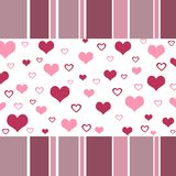 Funky hearts design. In pastel colors Royalty Free Stock Photos