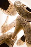 Funky High Heels Women Shoes stock images