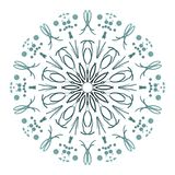 Abstract mandala. Digital design with funky lines royalty free stock images