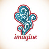 Funky Imagine decal Stock Photo