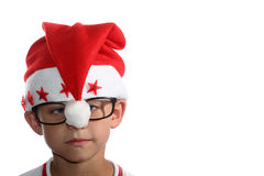 Funky jonge geitje van Kerstmis met glazen Royalty-vrije Stock Foto
