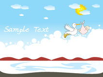 Funky kid background for sample text Stock Photo