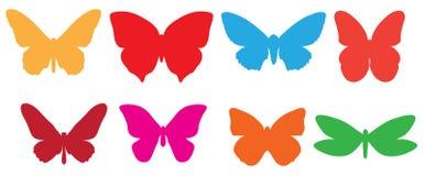 Funky kleurrijke vlinder Stock Afbeelding