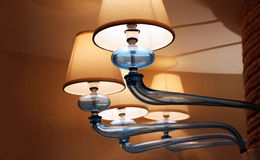 Funky lamp with copy space. Funky lamp decor with copy space. Interior design background stock photo