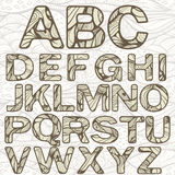 Funky Latijns Alfabet royalty-vrije illustratie