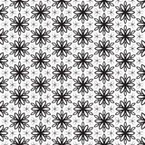 Funky Leaf Leaves Floral Flower Petals Trendy Black Line Design Repeating Seamless Vector Pattern Background Design Geometric Star Stock Image