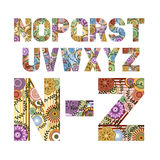 Funky Letters from N to Z Stock Image
