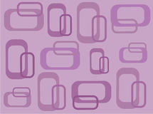 Funky lilac retro vierkanten stock illustratie