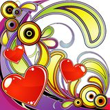 Funky love composition Stock Images