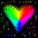 Funky love heart Stock Photography