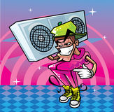 Funky man. Funky true style man illustration Stock Images