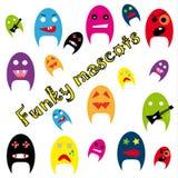Funky mascots Royalty Free Stock Photos