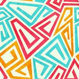 Funky maze seamless pattern Royalty Free Stock Photos