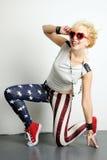 Funky meisje Stock Foto's