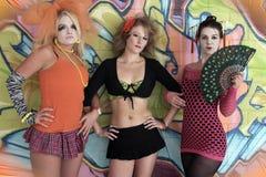 Funky Meisjes Stock Afbeelding