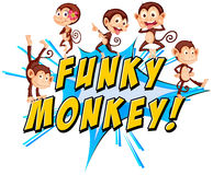 Funky monkeys Royalty Free Stock Photos