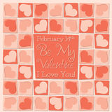 Funky mosaic love heart Valentine's Day card Royalty Free Stock Photo