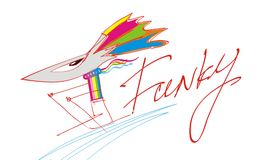 Funky mouse. An illustration of funky mouse on ski Royalty Free Stock Photos