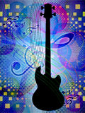 Funky music background with guitar Royalty Free Stock Photography