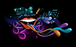 Funky music illustration Stock Photo