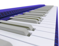 Funky music keyboard Stock Photography