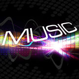 Funky Music Montage Royalty Free Stock Images