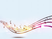 Funky Music Notes Stock Photography