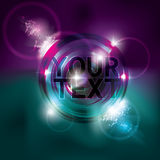 Funky neon circle light effect background. Funky 1980s inspired glowing neon circle light effect background Stock Images