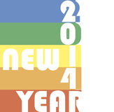 Funky new year 2014 Stock Photo