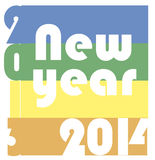 Funky new year 2014 Royalty Free Stock Photos