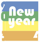 Funky new year 2014 Stock Images