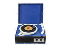 Funky Old Blue Record Player Royalty Free Stock Photo